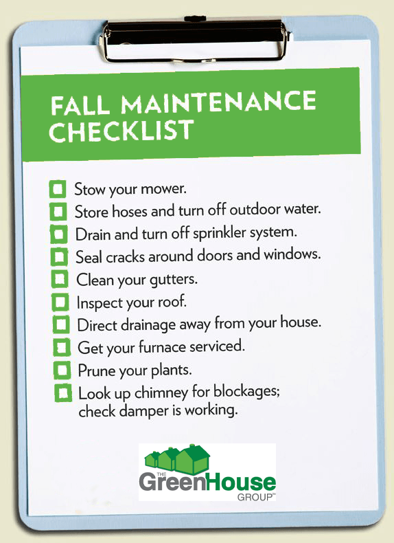 GHG Fall/Winter Checklist