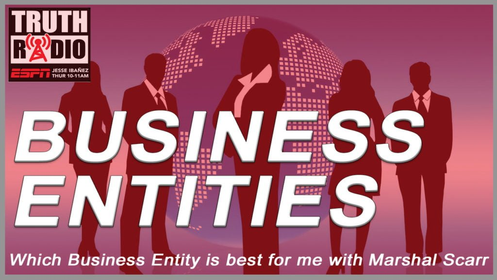 Marshal Scarr on Which Business Entity Is Best For Me?